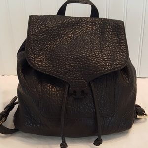 Tory Burch Black Pebble Leather Backpack